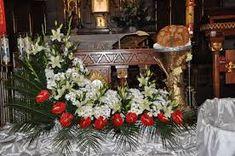 Image result for dekoracja ołtarza komunia Christmas Wreaths, Table Decorations, Holiday Decor, Image, Furniture, Home Decor, Decoration Home, Room Decor, Home Furnishings