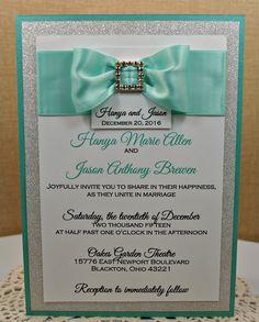 Tiffany and Co Style Invite