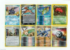 Pokemon lot of 8 cards WITH RARES ALL PICTURED Not Perfect with Empoleon