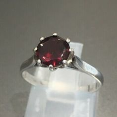 Dress Rings, Red Garnet, Heart Ring, Im Not Perfect, Engagement Rings, Band, Sterling Silver, Stone, Metal