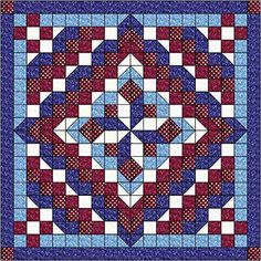 Amazon.com: Easy Quilt Kit Faceted Star Patriotic Red, White and Blues