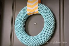 Fit, Crafty, Stylish and Happy: My wreath for Easter and Spring