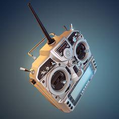 Taranis 9XD RC radio transmitter, rendered in KeyShot by Esben Oxholm.