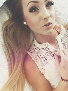 cute girly girl selfies