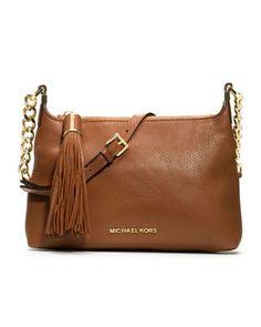 MICHAEL Michael Kors  Small Weston Pebbled Messenger Bag.