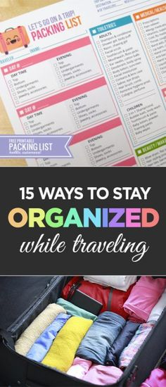 Travel Organization, How to Stay Organized While Traveling, Travel Hacks, Travel Tips and Tricks, Organization Hacks, Travel TIps and Hacks, Popular Pin, Travel TIps and Tricks, Organized Travel