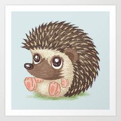 Hedgehog+Art+Print+by+Toru+Sanogawa+-+$13.52