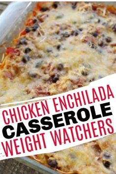 Weight Watcher Recipes 28024 This Chicken Enchilada Casserole is so good and you won't be left wanting at all. This is a great Weight Watchers dinner recipe and works good on all 3 plans! Weight Watcher Desserts, Weight Watchers Lunches, Weight Watchers Meal Plans, Weight Watcher Dinners, Weight Watchers Chicken, Weight Watchers Diet, Weight Watchers Enchiladas, Weight Watchers Casserole, Ww Recipes