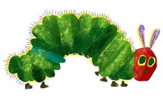 Very Hungry Caterpillar Clip Art | The Very Hungry Caterpillar begins its journey..