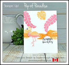 Stampin Up Pop of Paradise in Flamingo and Peach