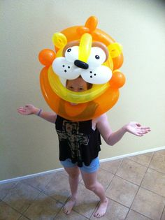 Balloon Mask! When you are looking for a special way to celebrate or even promote your company these balloon masks are sure to get attention. Unique and fun! #ProfessionalBalloonTwister