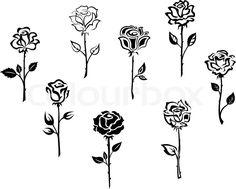Stock-Vektor von 'Rose flowers'