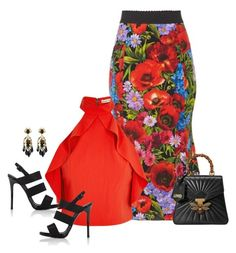 """I Want Her"" by picassogirl ❤ liked on Polyvore featuring Dolce&Gabbana, Alice + Olivia, Giuseppe Zanotti and Gucci"