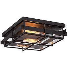 "Eurofase Muller 14"" Square Bronze Outdoor Ceiling Light"