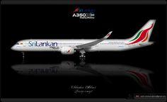 https://flic.kr/p/qi6Ype | SriLankan Airlines Livery concept | SriLankan Airlines / Airbus A350 XWB / Livery concept