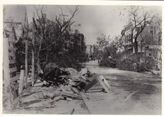Aftermath of Hurricane of 1893, downtown.  Hurricane killed thousands on Lady\'s Island