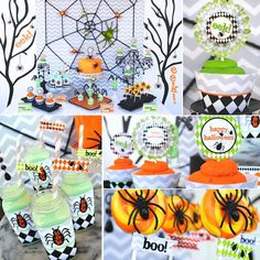 Tons of FREE HALLOWEEN PARTY PRINTABLES and Such Cute Ideas via Gwynn Wasson Designs on Kara's Party Ideas! KarasPartyIdeas.com #HalloweenParty #HalloweenPrintables #freehalloweenprintables #freehalloweenclipart