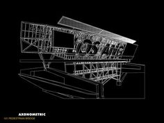 Morphopedia - The Online Encyclopedia of Morphosis Architecture Drawings, Architecture Details, Morphosis Architects, Model Sketch, Pedestrian Bridge, Design Process, Designs To Draw, How To Look Better, Archangel