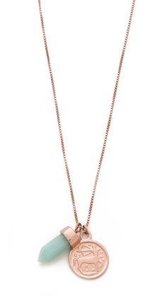 Mania Mania Age of Aquarius Necklace  $250    rose gold & amazonite
