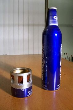 Aluminum Beer Bottle Alcohol Stove - the thicker gauge aluminum of the bottle makes a better stove.