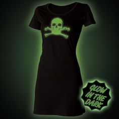 Glow in the dark Skull t-shirts dress from Block Clothing http://www.glow.clothing/Product.php?Sku=20248