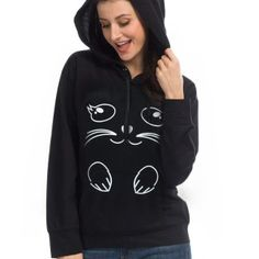 Mens Stylish Pure Color Hoodie Long-Sleeve Pullover Money Dollar Sign in Cat/â/€/˜s Eyes Hooded Sweatshirt