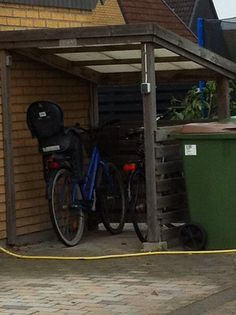 Bicycle shed easy to make