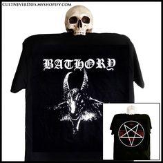 BATHORY: Goat / 1st album – CultNeverDies Turtle Clothes, Metal Shirts, Debut Album, Black Metal, Printed Shirts, Goats, Mens Tops, Fashion, Moda