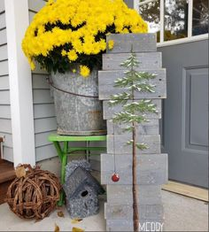 (1) Snowy pine tree painted on pallet wood, Merry Christmas, Charlie Brown – The White Birch Studio