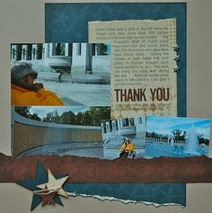 Honor Flight - Thank You layout Travel Scrapbook, My Scrapbook, Scrapbook Layouts, Scrapbooking, Honor Flight, Military Academy, Scouts, Special Day, Gallery