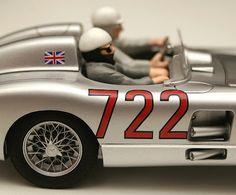 Slot car, Scalextric, Mercedes Box Set, Mercedes-Benz Mille Miglia, 1955 Mercedes-Benz SLR, 2005 Mercedes McLaren SLR