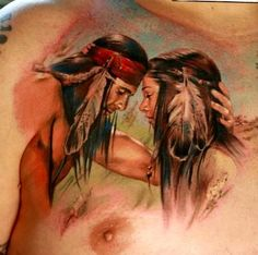 Native american beauty beautiful-tattoos-and-amazing-ink Native Indian Tattoos, Native American Tattoos, Native American Beauty, Body Art Tattoos, Sleeve Tattoos, Tatoos, Memory Tattoos, 3 Tattoo, Tattoo Special