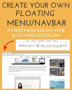 Floating Navbar/Menu Tutorial #tutorial #wordpresstutorial #bloggertutorial #blogdesign #design #diy #diyblog #diydesign