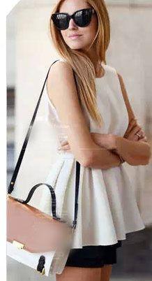 women fashion - Women's Clothing - Blouse&Shirt - Spring/Summer Blouse - Women's Casual White O-Neck Solid Chiffon Blouse - 409024L04 - |Asia Asian Fashion Wholesale#blouse
