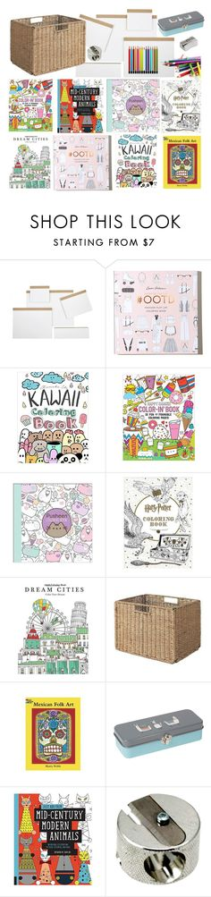 """Coloring Station"" by aprilplayssp ❤ liked on Polyvore featuring interior, interiors, interior design, home, home decor, interior decorating, Jayson Home, Hollister Co., International Arrivals and Pusheen"