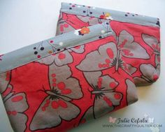 Bridal gift pouches @ The Crafty Quilter  {Made with ASG in the SLC Snap Tape Purse Tutorial}