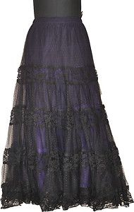 Gothic Long Skirt Plus Size Black Halloween Cocktail Prom Party Custom Made   eBay