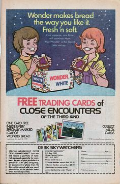 1978 comic books | ... - Close Encounters of the third kind Trading cards - comic book ad