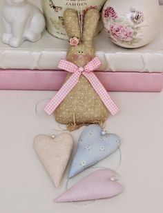 Easter Bunny with Hearts