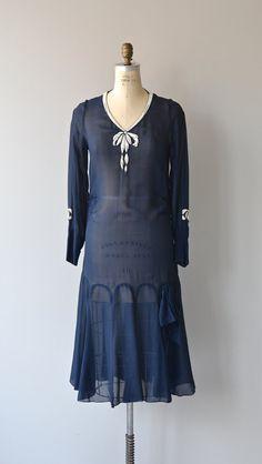 Ode to Elsa dress 1920s silk beaded dress vintage by DearGolden