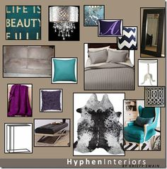 Master bedroom color palette: royal purple, teal, gray & navy, and chocolate Purple Bedroom Paint, Bedroom Colour Palette, Bedroom Color Schemes, Bedroom Colors, Paint Schemes, Home Bedroom, Bedroom Decor, Bedrooms, Dream Bedroom