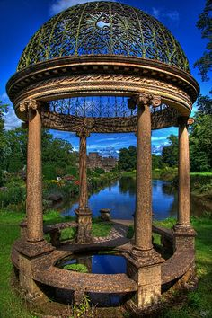 The Abbots Folly by Chris Lord. Gazebo on the grounds of an (abandoned?) UK abbey