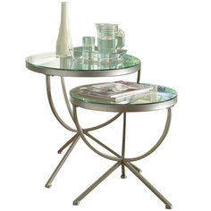 I pinned this 2 Piece Monarch Nesting Table Set from the Frances Herrera event at Joss and Main!