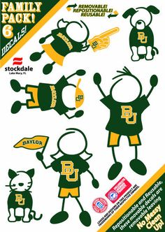 Baylor family car decals