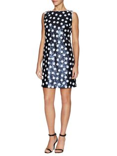 Sequin Polka Dot Sleeveless Dress by Maia at Gilt