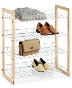 Whitmor Closet Storage Shelves, Wood and Chrome - Storage & Organization - For The Home - Macy's