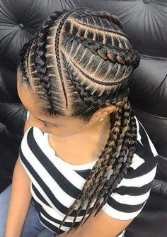 85 Box Braids Hairstyles for Black Women - Hairstyles Trends Natural Braided Hairstyles, Natural Braids, French Braid Hairstyles, Braided Hairstyles For Black Women, African Braids Hairstyles, Easy Hairstyles, Natural Hair Styles, Short Hair Styles, Protective Hairstyles