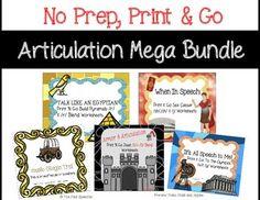 Articulation bundle- no prep, print & go articulation The Pedi Speechie