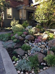 simple backyard landscaping ideas on a budget 2019 64 . simple backyard landscaping ideas on a budget 2019 64 ., simple backyard landscaping ideas on a budget 2019 64 . Landscaping With Rocks, Front Yard Landscaping, Simple Landscaping Ideas, Landscaping Design, Landscaping Plants, Inexpensive Landscaping, High Desert Landscaping, Front Yard Patio, River Rock Landscaping