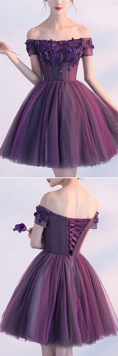Homecoming Dresses,Party Dresses,Short Prom Dresses,Homecoming Dance Dress,Purple Off-the-shoulder Short Prom Dress, Homecoming Dress, Party Dress, SH278